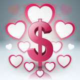 Abstract 3D digital illustration Infographic. Heart icon. Royalty Free Stock Photos
