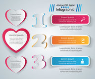 Abstract 3D digital illustration Infographic. Heart icon. Infographic design template and marketing icons. Heart icon Royalty Free Stock Image