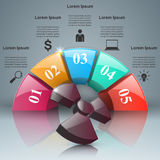 Abstract 3D digital illustration Infographic. Radiation icon. Stock Images