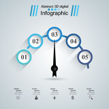Abstract 3D digital illustration Infographic. Speedometer icon. Infographic design template and marketing icons. Speedometer icon. Arrow icon Royalty Free Stock Photo