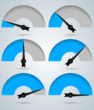 Abstract 3D digital illustration Infographic. Speedometer icon. Infographic design template and marketing icons. Speedometer icon. Arrow icon Royalty Free Stock Images
