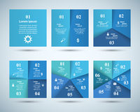 Abstract 3D digital illustration Infographic. Square icon. Business Infographics origami style Vector illustration Stock Images