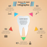 Abstract 3D digital illustration Infographic. Tooth icon. Royalty Free Stock Photography
