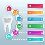 Abstract 3D digital illustration Infographic. Tooth icon. Stock Image