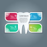 Abstract 3D digital illustration Infographic. Tooth icon. Royalty Free Stock Photos