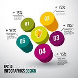 Abstract 3D digital illustration Infographic. Vector Royalty Free Stock Image