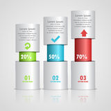 Abstract 3D digital illustration Infographic. Stock Photography