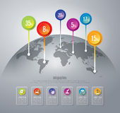 Abstract 3D digital illustration Infographic. Royalty Free Stock Photo