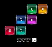 Abstract 3D digital illustration Infographic. Stock Image