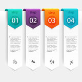 Abstract 3D digital illustration Infographic. Vector illustratio Royalty Free Stock Photography