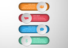 Abstract 3D digital illustration Infographic.Vector illustration Stock Image