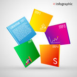Abstract 3D digital illustration Infographic. Vector illustration can be used for workflow layout, diagram, number. Options, web design Royalty Free Illustration