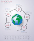 Abstract 3D digital illustration Infographic with world map.Can Stock Photo