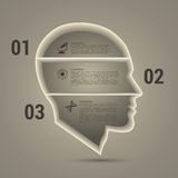 Abstract 3D digital Infographic. Head. Vector illustration Stock Photos