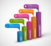 Abstract 3D digital options infographics template. Vector illustration Royalty Free Stock Photo