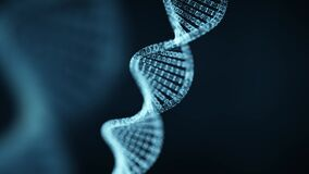 Abstract 3d DNA molecule. Medical science and chemistry biology. Gene cell background with copy space for text or logo
