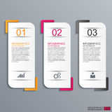Abstract 3D document Infographic Stock Afbeelding