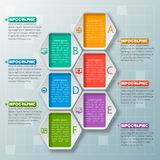 Abstract 3D Document Infographics Stock Afbeeldingen