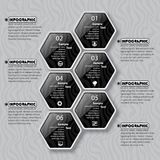 Abstract 3D Document Infographics Royalty-vrije Stock Foto