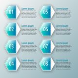 Abstract 3D Document Infographics Stock Afbeeldingen
