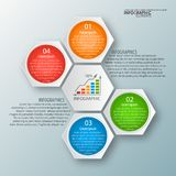 Abstract 3D Document Infographics Royalty-vrije Stock Afbeeldingen