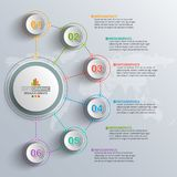Abstract 3D Document Infographics Stock Foto's