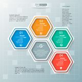 Abstract 3D Document Infographics Royalty-vrije Stock Foto's