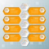 Abstract 3D Document Infographics royalty-vrije illustratie