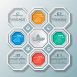 Abstract 3D Document Infographics Stock Foto
