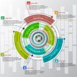 Abstract 3D Document Infographics Royalty-vrije Stock Afbeeldingen