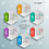Abstract 3D Document Infographics Stock Afbeelding