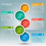 Abstract 3D Document Infographics Bedrijfs malplaatje Vector illustratie stock illustratie
