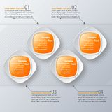 Abstract 3D Document Infographics Bedrijfs malplaatje Vector illustratie royalty-vrije illustratie