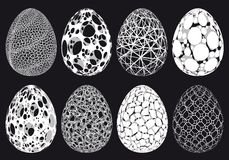 Abstract 3D Easter eggs, vector set Stock Image