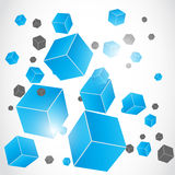Abstract 3d effect cube Royalty Free Stock Photos