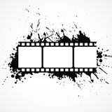 Abstract 3d film strip background with black ink effect Royalty Free Stock Photo