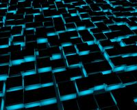 abstract 3d floor tiles Royalty Free Stock Photo