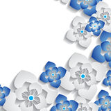 Abstract 3D floral background Royalty Free Stock Photo