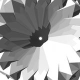 Abstract 3D floral geometry Royalty Free Stock Image