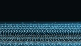 Abstract 3D Futuristic Dots And Lines Techno Structure stock images