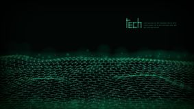 Abstract 3D Futuristisch Dots And Lines Techno Structure vector illustratie