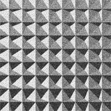 Abstract 3d geometric background. Black and white grainy design. Pointillism pattern. Stippling effect. Vector illustration Royalty Free Stock Photos