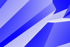 Abstract 3d geometric background. In blue colors, computer rendering Stock Photo