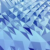 Abstract 3D geometric background. Abstract blue background.  3D  geometric illustration Royalty Free Stock Photos
