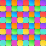 Abstract 3d geometric background. Colorful seamless texture with shadow.  Royalty Free Stock Image