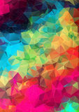 Abstract 2D geometric background. Abstract optic effect colorful triangle pattern background Royalty Free Illustration