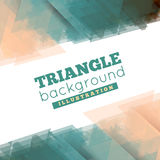 Abstract 3D geometric background. Abstract 3D geometric triangle background. Vector illustration Royalty Free Stock Images