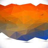 Abstract 3D geometric background. Vector illustration royalty free illustration