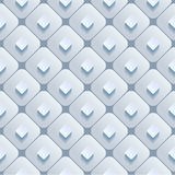 Abstract 3d geometric background. White seamless texture with shadow. Simple clean background texture. 3D Vector interior wall panel pattern. Vector Stock Illustration