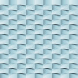 Abstract 3d geometric background. White seamless texture with shadow. Simple clean white background texture. 3D Vector interior wa Stock Photo